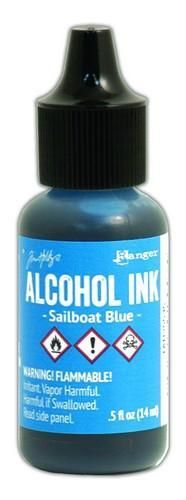 Ranger Alcohol Ink Sailboat Blue