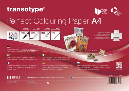 Holtz transotype Perfect Colouring Paper A4 10 Blatt