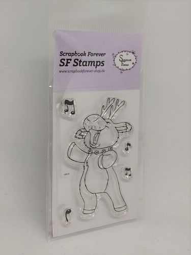 SF Stamps Singendes Rentier