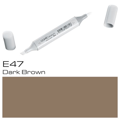 Copic Sketch E47 Dark Brown