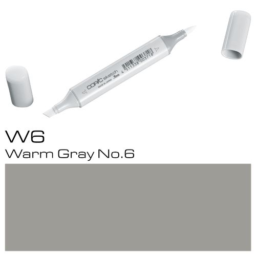 Copic Sketch W6 Warm Gray No.6